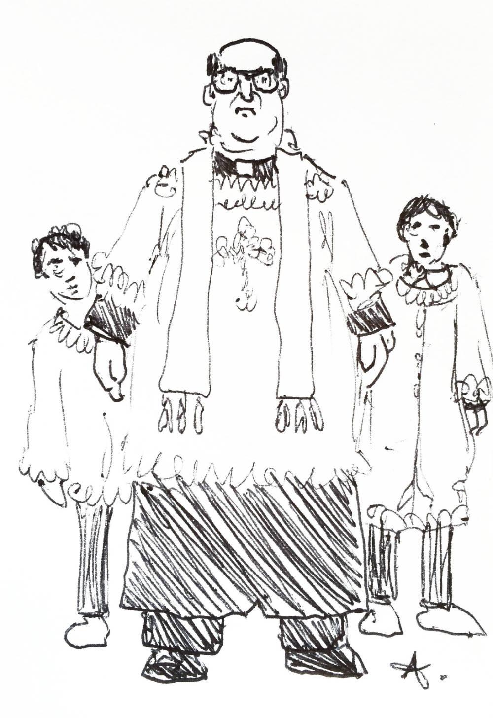 A Sicilian Wedding by Claudio Assandri, the priest