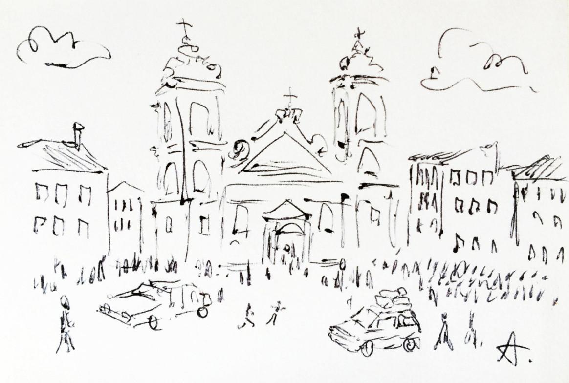 A Sicilian Wedding by Claudio Assandri, the wedding church