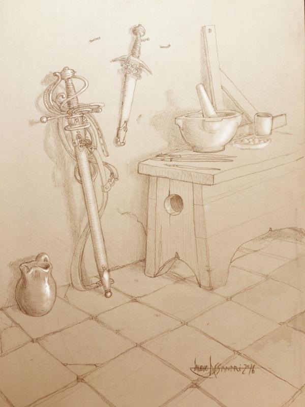 Disegno Caravaggio ©by Claudio Assandri
