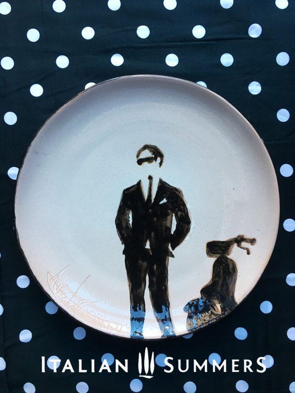 Handpainted ceramic plate LA DOLCE VESPA by Italian Summers