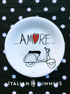 Handpainted plate VESPA AMORE by Italian Summers