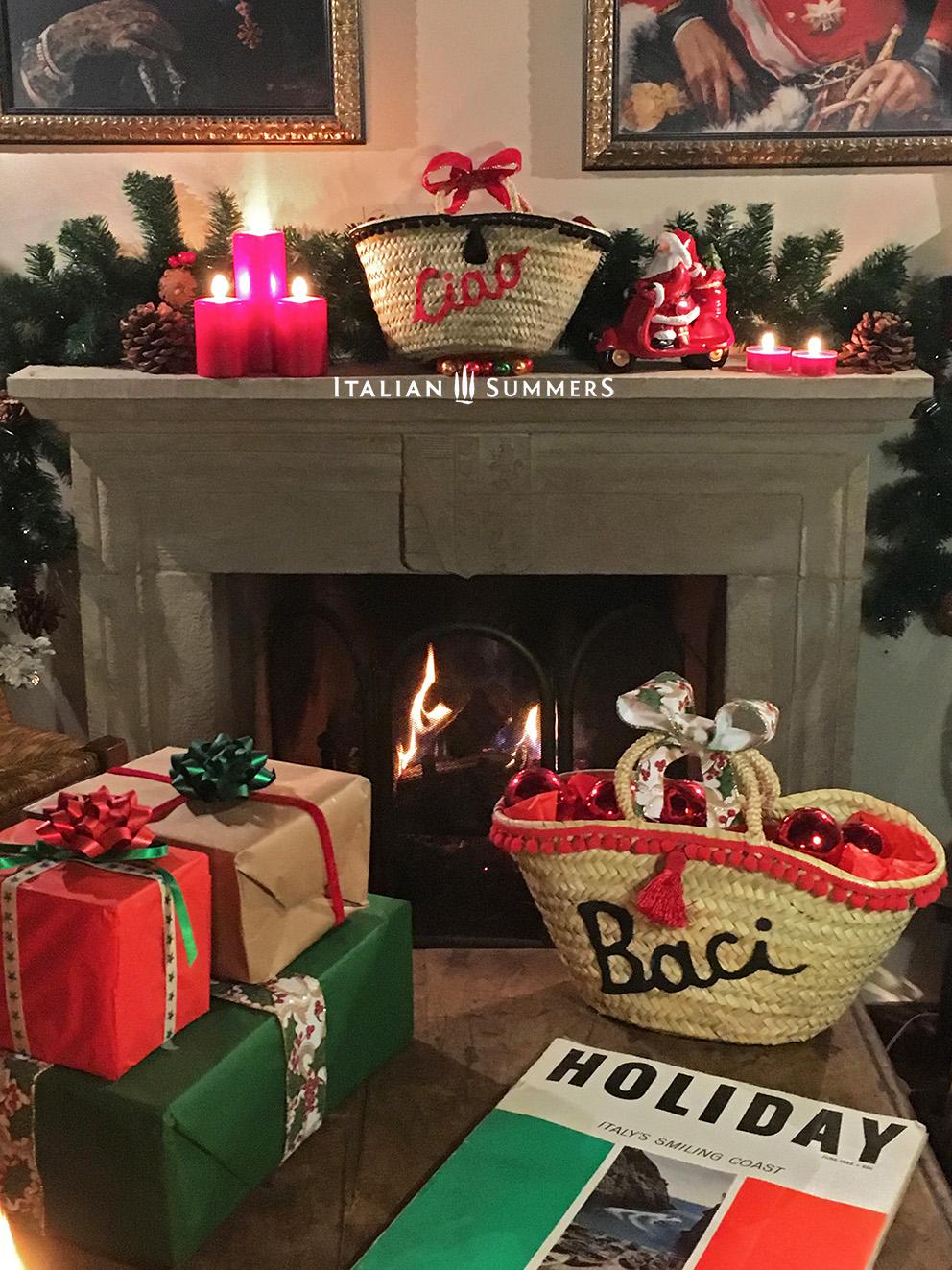 Italian Christmas Gifts by Italian Summers. Straw bags Italian Capri style