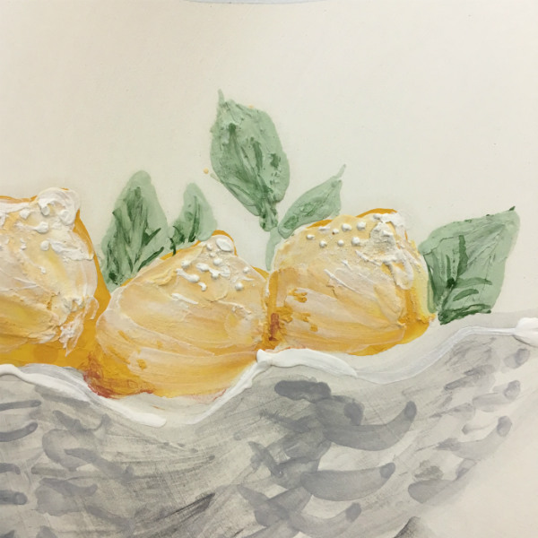 Italian Summers Sorrento lemons plate. Exclusive handpainted plates. Italian style ceramic plates