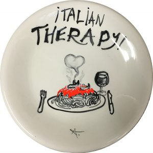 Italian Therapy, exclusive ceramic plate by Italian Summers