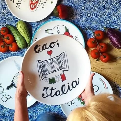 italian-handpainted-ceramic-plate-ciao-italia-by-italian-summers
