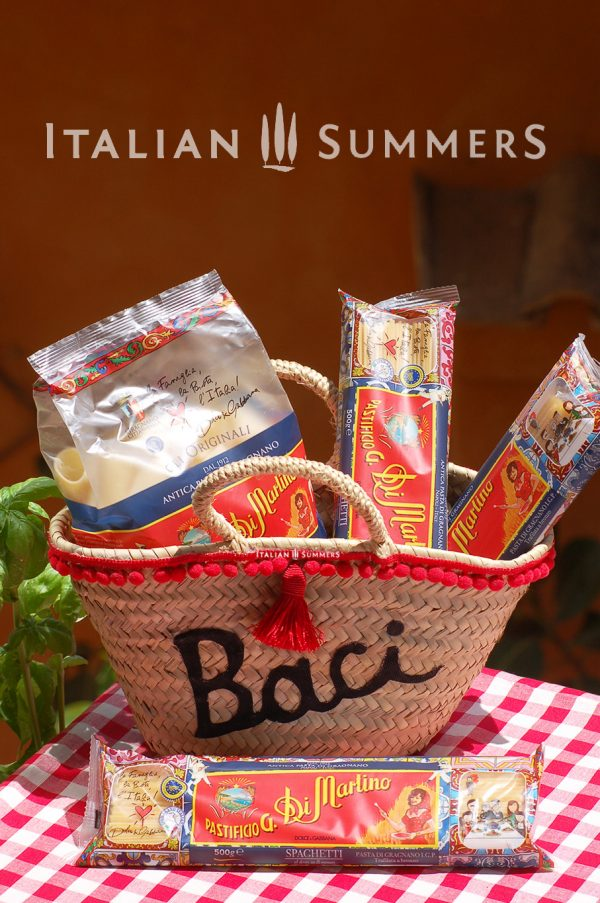 Mini straw bag BACI DOLCE GABBANA PASTA DI MARTINO AT ITALIAN SUMMERS