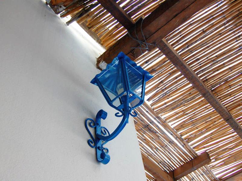 Panarea island, blue lamp, photo by Lisa van de Pol, Italian Summers