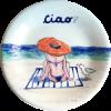 Positano Beach Hat ceramic plate made my Italian Summers