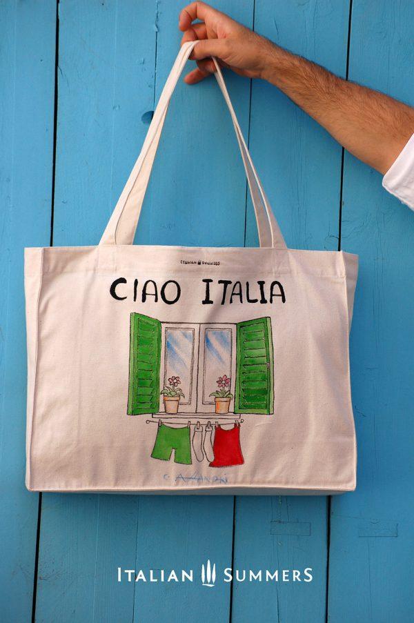 Shopper tote bag CIAO ITALIA by Italian Summers