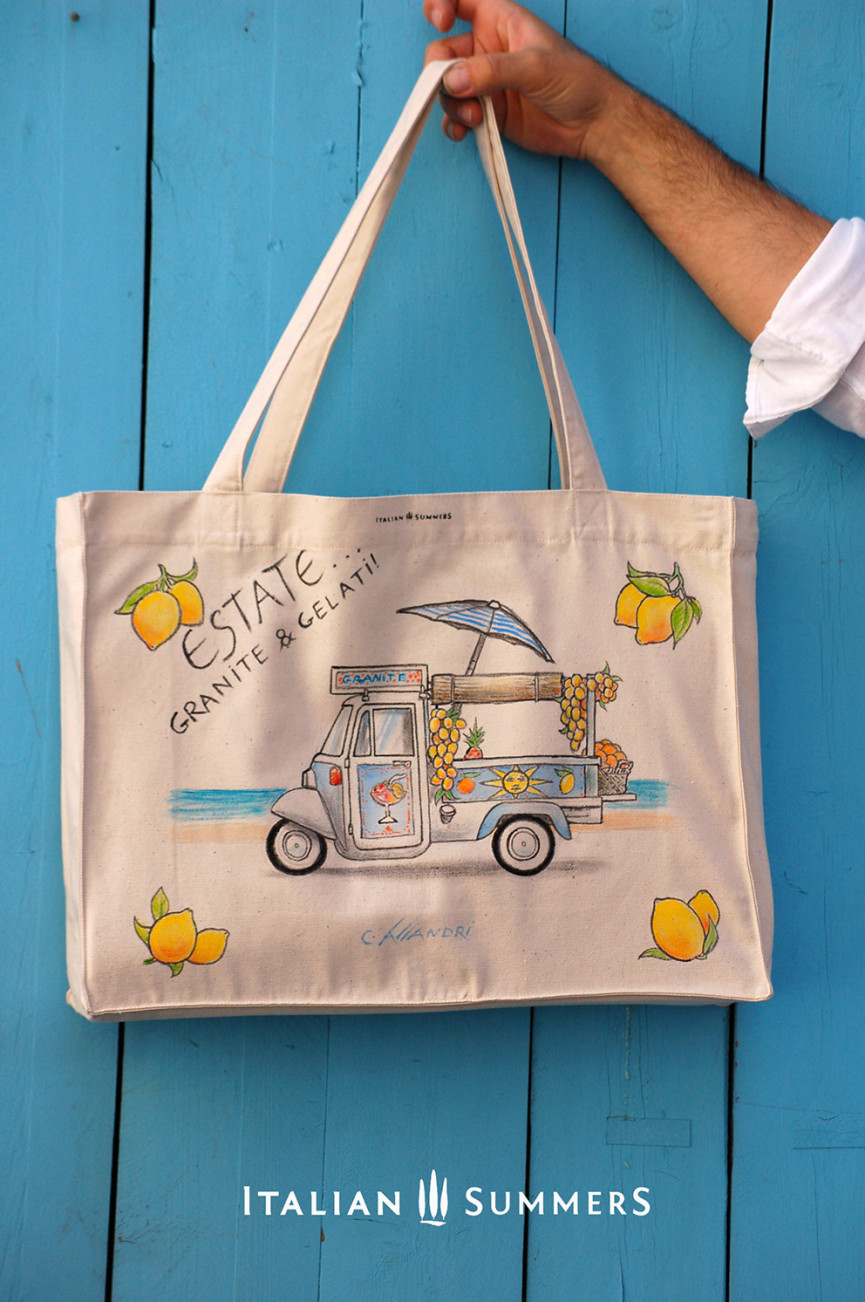 Shopper tote bag GRANITE & GELATI by Italian Summers.