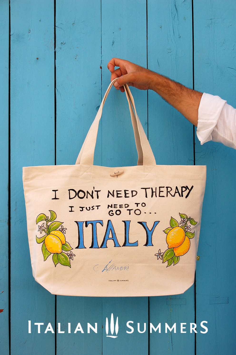 I DON'T NEED THERAPY, I JUST NEED TO GO TO ITALY Shopper tote bag by Italian Summers