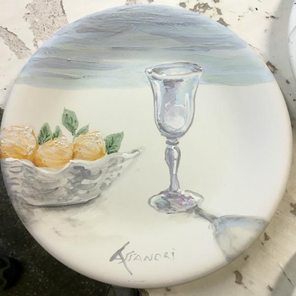 Sorrento Lemons ceramic plate by Italian Summers. Made in Rome, Italy. Italian style plates by Lisa van de Pol and Claudio Assandri