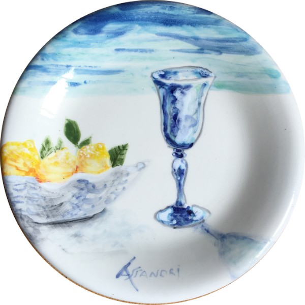 Sorrento Lemons ceramic plate made by Italian Summers