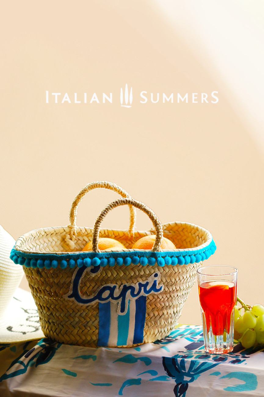 Straw Bag LITTLE MISS CAPRI by Italian Summers