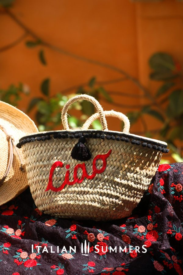 Straw bag, straw basket LITTLE MISS Ciao by Italian Summers