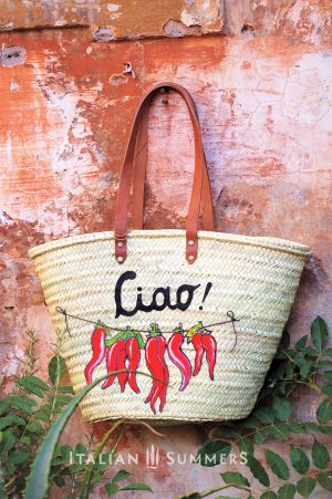 Straw Market bag PEPERONCINOS by Italian Summers