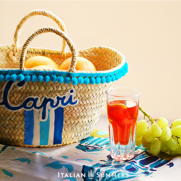 Straw bag Little Miss Capri Italian Summers