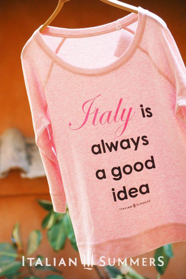 T-shirt ITALY IS ALWAYS A GOOD IDEA by Italian Summers