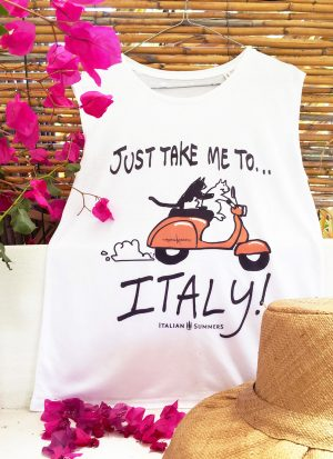 T-shirt VESPA CATS, JUST TAKE ME TO ITALY by Italian Summers