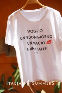 T-shirt VOGLIO UN BUONGIORNO by Italian Summers