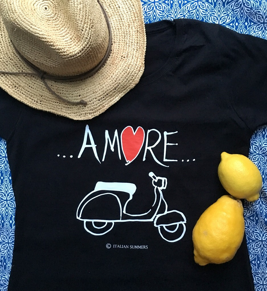 Italian Summers t-shirts, Italian Inspired by Claudio Assandri and Lisa van de Pol