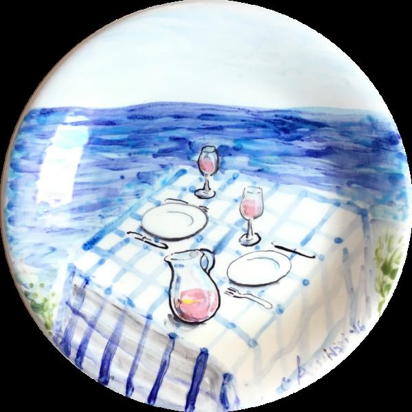 Tavola sul Mare ceramic plate by Italian Summers