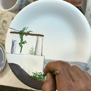 The making of Italian Summers plate Casa Stomboli. Exclusive Italian ceramic plates by Italian Summers