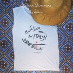 Italian Summers t-shirts on the blog of Ciao Tutti
