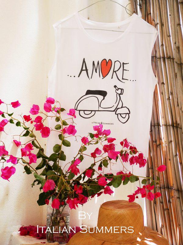VESPA AMORE T-shirts with Italian Vespa print by Italian Summers