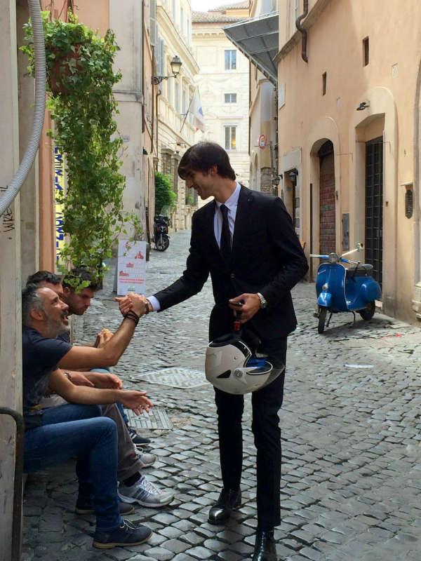 Vespa in Rome, Italian Streetlife, © photo by Lisa van de Pol