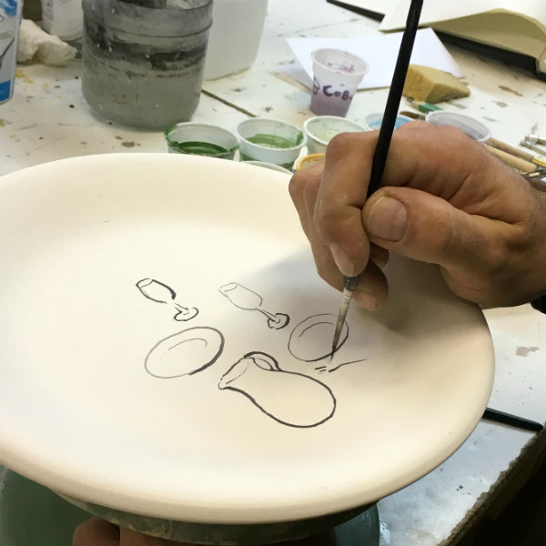 The making of Italian Summers plate Vino Table. Exclusive ceramic plates by Italian Summers