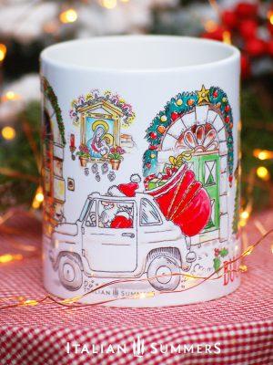 Italian Christmas mug ITALIAN STREETVIEW by Italian Summers