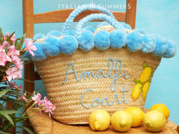 AMALFI COAST Straw bag by Italian Summers