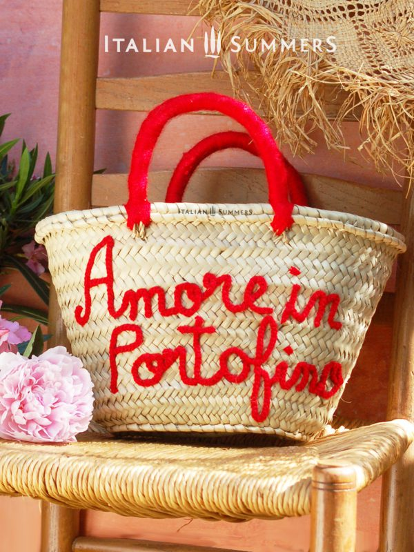 AMORE In PORTOFINO Straw bag by Italian Summers