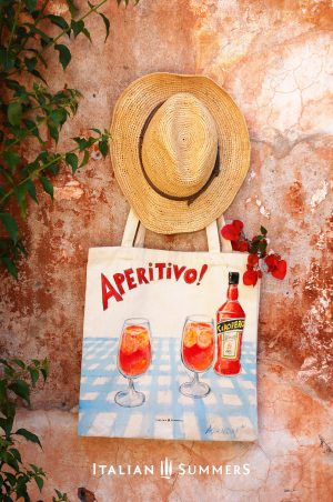 APERITIVO handpainted tote bag by Italian Summers