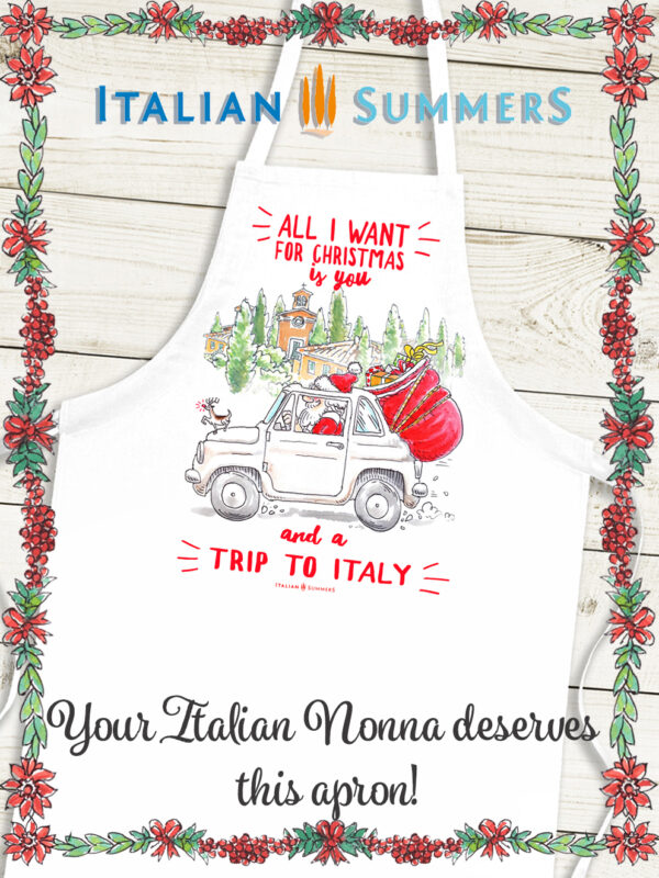 Italian Christmas Apron A TRIP TO ITALY