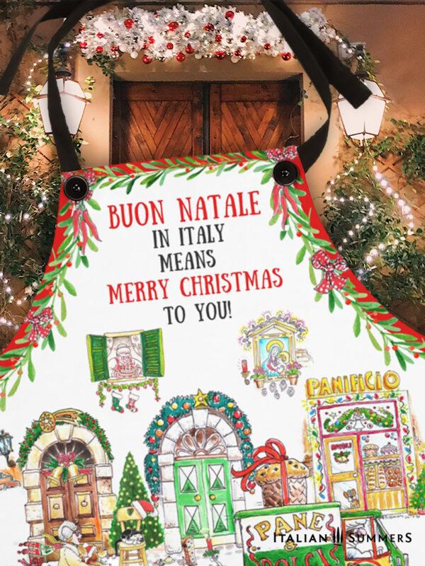 Apron Buon Natale by Italian Summers