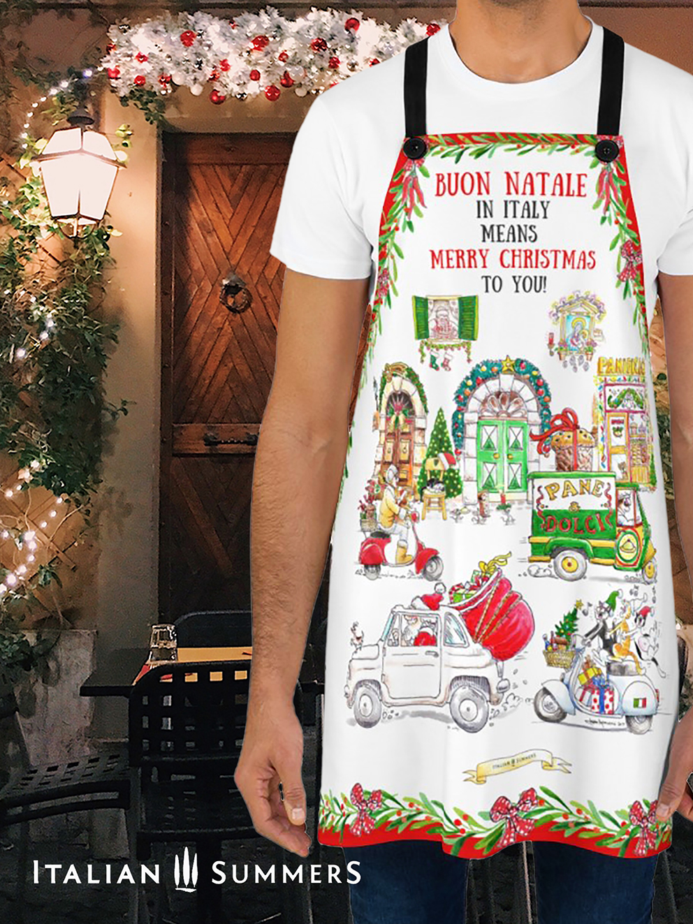 Apron Buon Natale in Italy by Italian Summers