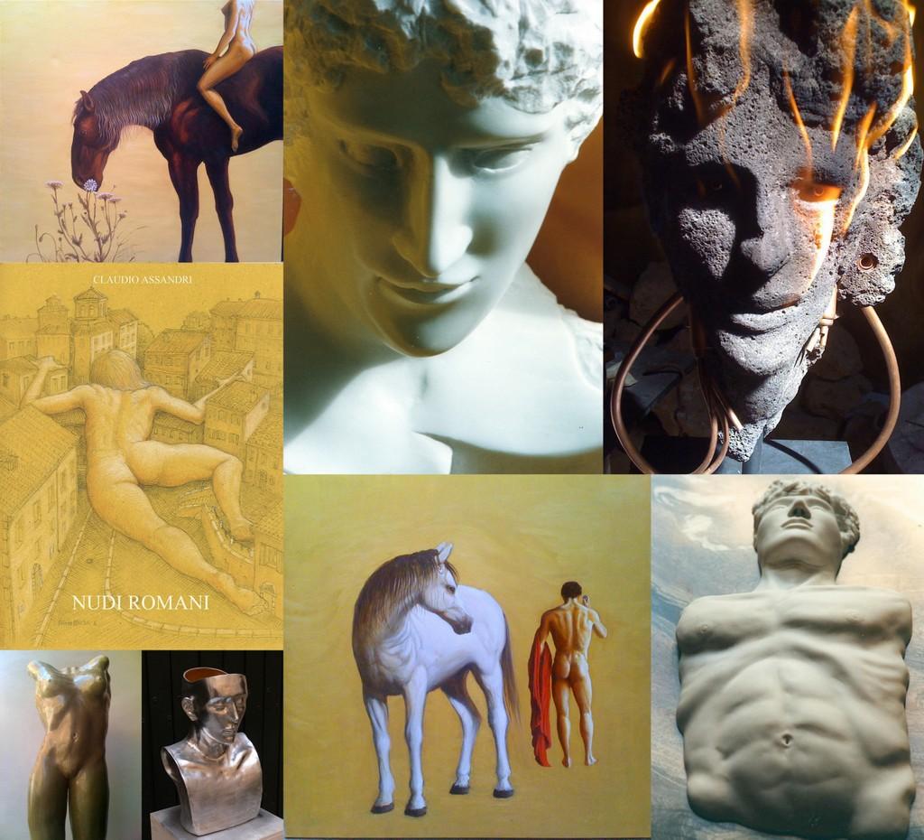 Art by Artist Claudio Assandri, sculptor, painter, writer, researcher, illustrator and designer for Italian Summers