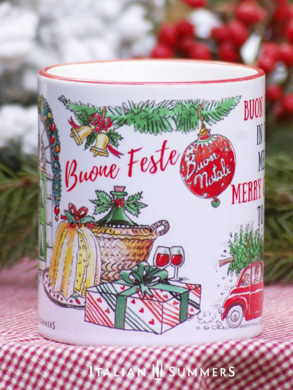 BUON NATALE IN ITALY Italian Christmas coffee mug by Italian Summers