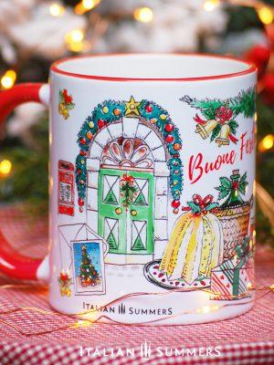 Italian Christmas mug BUON NATALE IN ITALY by Italian Summers