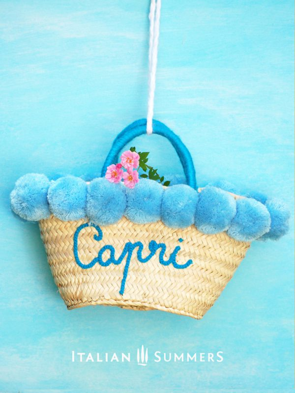CAPRI AZZURRA Straw bag by Italian Summers