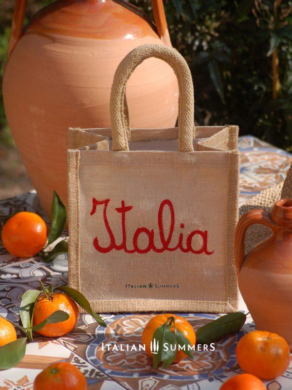 Piccola BELLA ITALIA Jute bag by Italian Summer