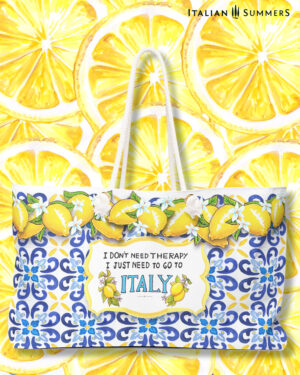 Beach bag XL I don't need therapy, I just need to go to Italy by Italian Summers