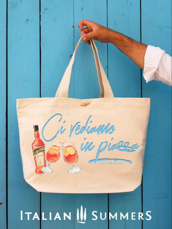 Beachbag CI VEDIAMO IN PIAZZA by Italian Summers
