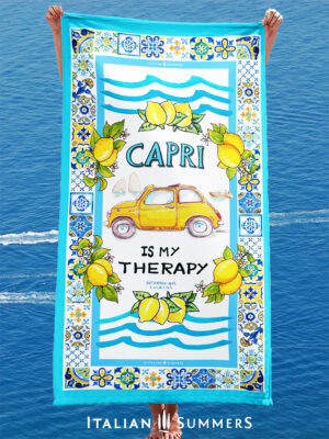 Beachtowel CAPRI IS MY THERAPY by-Italian-Summers