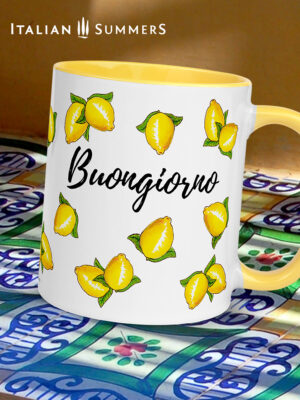 Buongiorno limoni mug by Italian Summers