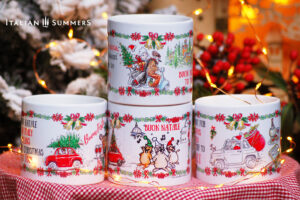 Italian Christmas cappuccino cup set By Italian Summers
