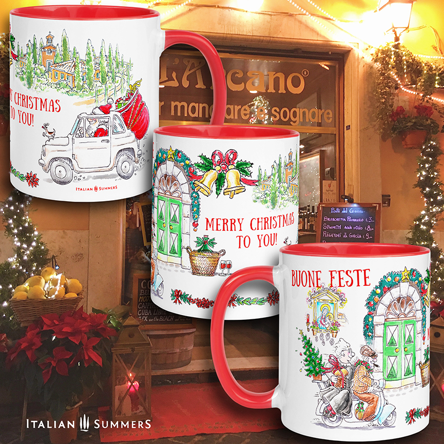 Christmas mug Chirstmas in Italy Italian Summers