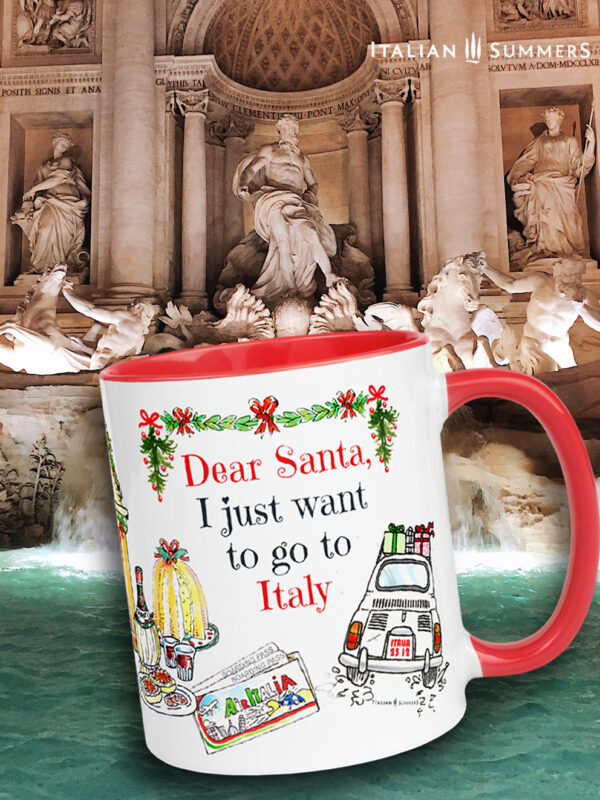 Christmas mug i JUST WANT TO GO TO ITALY by Italian Summers